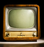 Televisione antica Fotografie Stock