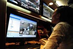 Televisione a circuito chiuso Fotografia Stock Libera da Diritti