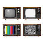 Televisione classica Immagine Stock Libera da Diritti