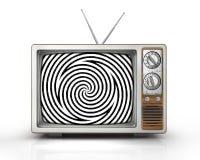 Televisione come mass media influente Fotografia Stock Libera da Diritti