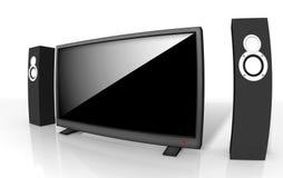 Televisione definizione alta/del teatro domestico Fotografia Stock Libera da Diritti