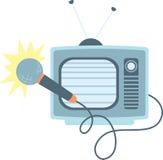 Televisione di karaoke Fotografia Stock Libera da Diritti