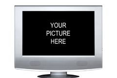 Televisione di stereotipia dello schermo piano immagini stock