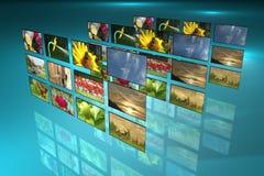 Televisione e la pubblicità Fotografie Stock Libere da Diritti