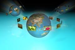 Televisione e la pubblicità Immagine Stock Libera da Diritti