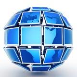Televisione globale Fotografia Stock