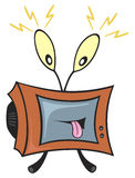 Televisione pazzesca Fotografie Stock
