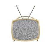 televisione portatile degli anni 50 con lo schermo e le antenne statici Fotografie Stock Libere da Diritti