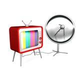 Televisione via satellite Fotografie Stock Libere da Diritti
