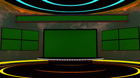televisionen 3d arrangerar Arkivfoton
