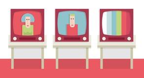 Televisiones viejas Fotografía de archivo