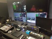 Televisionproduktionstudio arkivbild