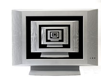 Televisions to infinity. Corridor of television sets going into infinity Royalty Free Stock Photo