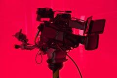 Televisionstudiokamera Arkivfoton