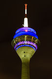 Televisiontorn i Dusseldorf Arkivfoton
