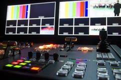 TelevisionTV-sändningrum Fotografering för Bildbyråer