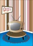 Televisão retro Foto de Stock