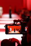 Televison Camera Broadcasting a Fashion show Royalty Free Stock Image