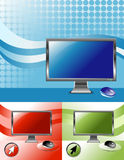 televison d'écran d'ordinateur de 3 couleurs illustration de vecteur