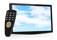 Televisor and remote control Stock Images