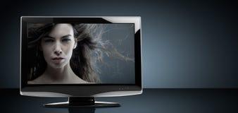 Televisore dell'affissione a cristalli liquidi Immagini Stock Libere da Diritti