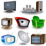 Televisori Immagini Stock Libere da Diritti
