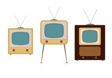 Televisori a partire dagli anni 50 Immagine Stock