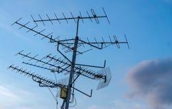 Telewizj anteny Zdjęcia Royalty Free