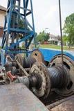 Telewizja kablowa palowego kierowcy maszyna Fotografia Stock