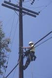 Telewizja kablowa repairman Fotografia Royalty Free