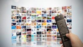 Telewizja leje się wideo Środki TV na żądanie zdjęcia royalty free