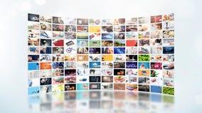 Telewizja leje się wideo Środki TV na żądanie obrazy royalty free