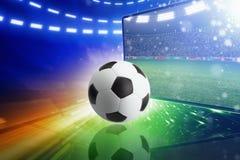 Telewizja na żywo transmisja mecz piłkarski ilustracja wektor