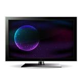 Telewizja pokazuje przestrzeń Fotografia Stock