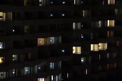 Telewizja przy nocą Obraz Stock