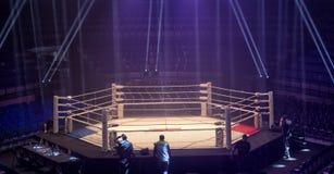 Telewizji transmisja od gym dla walczyć bez reguł M1 zdjęcie royalty free