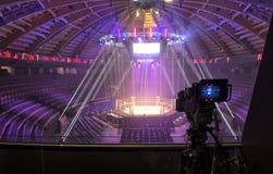 Telewizji transmisja od gym dla walczyć bez reguł M1 obraz royalty free