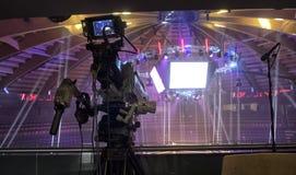 Telewizji transmisja od gym dla walczyć bez reguł M1 obrazy stock