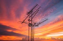 Telewizyjne anteny Obrazy Royalty Free