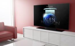 Telewizyjny mądrze film obraz stock