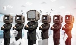 Telewizyjny nałóg ludzie biznesu fotografia royalty free