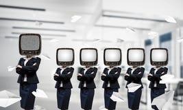 Telewizyjny nałóg ludzie biznesu obrazy royalty free