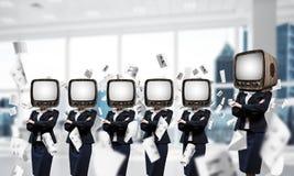 Telewizyjny nałóg ludzie biznesu zdjęcia stock