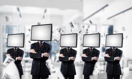 Telewizyjny nałóg ludzie biznesu obraz royalty free