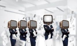 Telewizyjny nałóg ludzie biznesu obraz stock