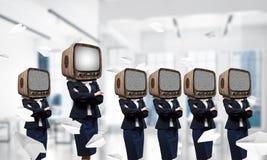 Telewizyjny nałóg ludzie biznesu zdjęcie royalty free