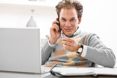 Telework from home Stock Photos