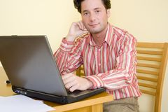 Telework - Working home. Working home Royalty Free Stock Images