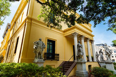 Telfair Museum Savannah. Savannah, GA USA - April 25, 2016: The popular Telfair Museum in the historic district of Savannah was the first public art museum in Stock Photography