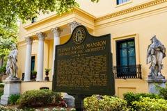 Telfair Museum Savannah. Savannah, GA USA - April 25, 2016: The popular Telfair Museum in the historic district of Savannah was the first public art museum in stock images
